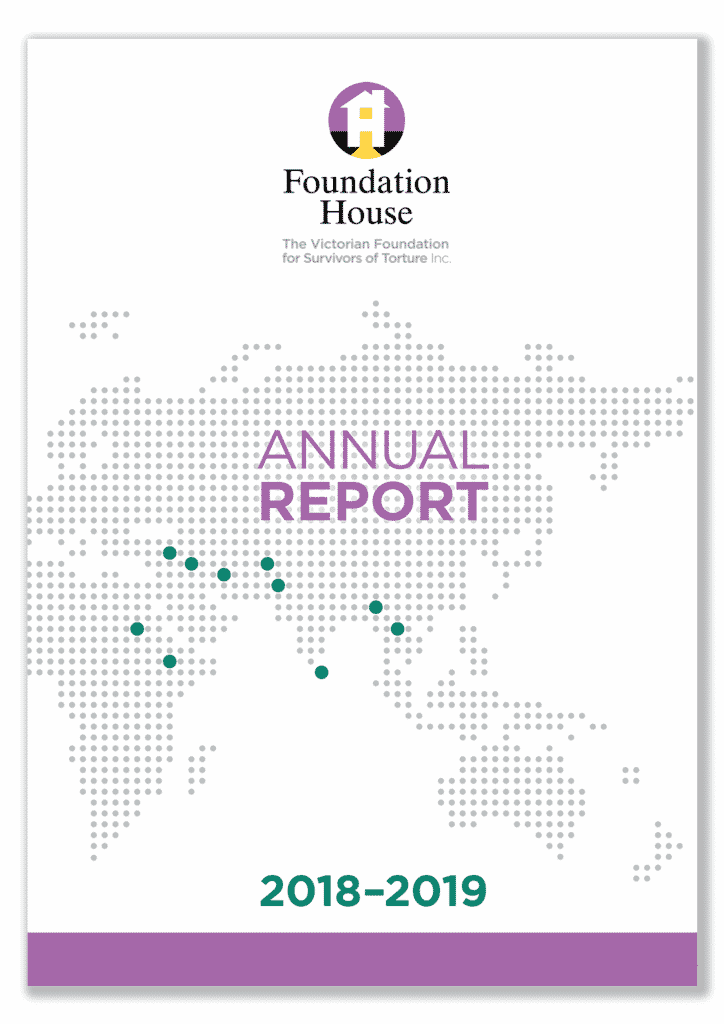 Front cover of the Foundation House Annual Report 2018-19
